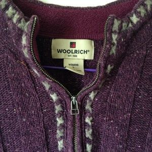 Woolrich Berry Heather Embroidered Pullover